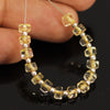 Yellow Citrine Smooth Polished Wheel Beads Strand - 15 beads - 4mm - Jewels Exports - 2