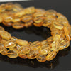 Golden Citrine Smooth Polished Oval Beads Strand - 13 inches - 11-13mm - Jewels Exports - 1