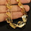 Golden Citrine Step Cut Tumble Loose Beads - 9 beads - 11mm - 17mm - Jewels Exports - 2