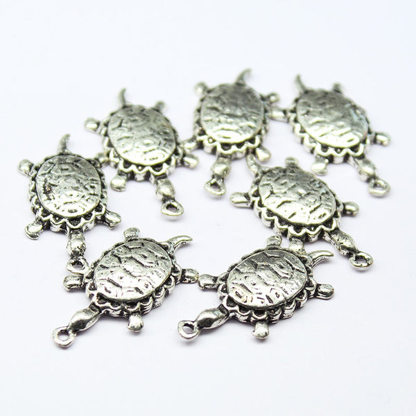 Turtle Charm Pendant Metal Finding, Sold per 4 pcs, CC26 - Jewels Exports