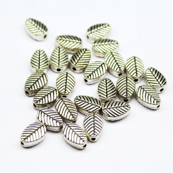 Plant Leaf Bead Spacer Finding, Sold per 18pc, CF55 - Jewels Exports