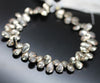 Shiny Pyrite Faceted Pear Drop Beads Strand - 8 Inch - 8mm 9mm - Jewels Exports - 1