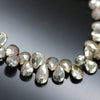 Shiny Pyrite Faceted Pear Drop Beads Strand - 8 Inch - 8mm 9mm - Jewels Exports - 2
