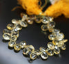 Citrine Faceted Pear Drop Loose Beads Strand - 7 Inches - 11mm 12mm - Jewels Exports - 2