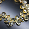 Citrine Faceted Pear Drop Loose Beads Strand - 7 Inches - 11mm 12mm - Jewels Exports - 1