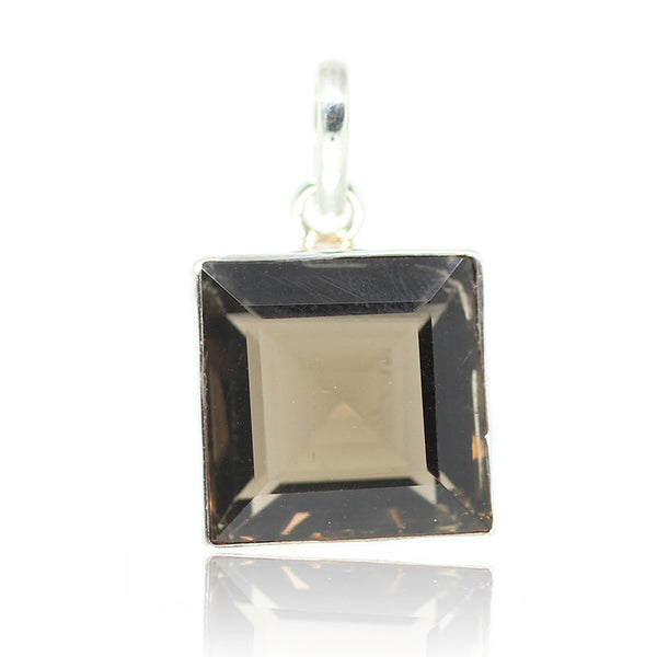 Smoky Quartz Sterling Silver Pendant 3018PD - Jewels Exports