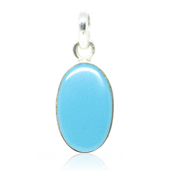 Arizona Turquoise Sterling Silver Pendant 3012PD - Jewels Exports
