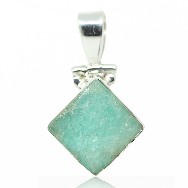 Amazonite Sterling Silver Pendant 3005PD - Jewels Exports