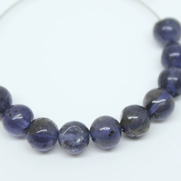 Iolite Smooth Round Ball Beads, 10 beads, 4.5mm, SKU/E - Jewels Exports