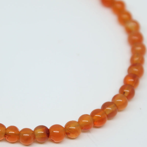 Carnelian Smooth Round Ball Beads, 3.5mm, 50 beads, SKU/E - Jewels Exports