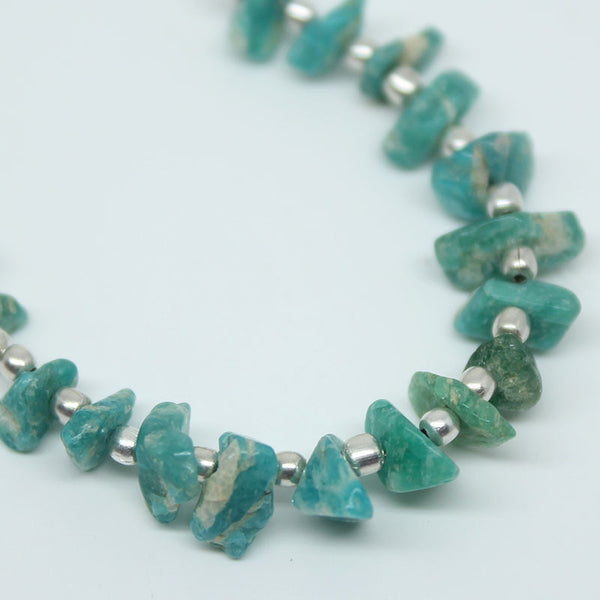 Amazonite Smooth Uneven Chips Beads, 4-7mm, 20 beads, SKU/BBL - Jewels Exports