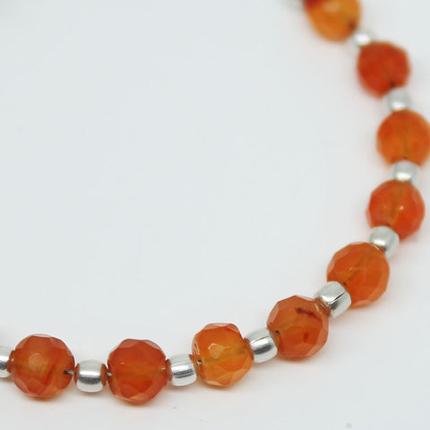 Carnelian Faceted Round Ball Beads, 4mm, 10 beads, SKU/BBL - Jewels Exports
