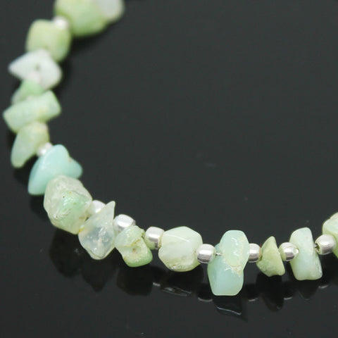 Chrysoprase Smooth Uneven Chips Beads, 4-7mm, 20 beads, SKU/E - Jewels Exports