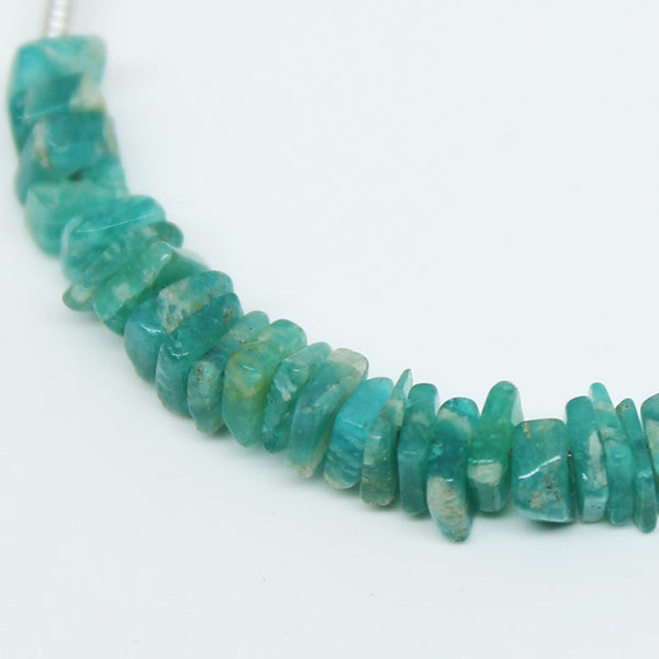 Green Amazonite Smooth Heishi Cube Beads, 25 beads, 4mm, SKU/E - Jewels Exports