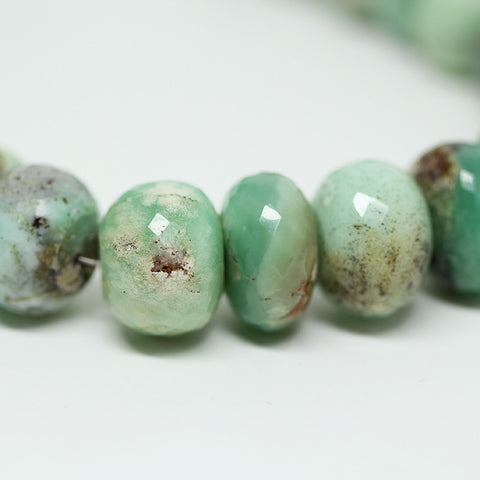 Bi Chrysoprase Faceted Rondelle Beads, 4 inches, 10 to 11 mm  SKU 10578 - Jewels Exports - 1