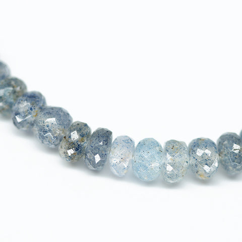 Blue Sunstone Shaded Rondelle Beads, 4 inches, 6-6.5mm, SKU10417M - Jewels Exports - 1