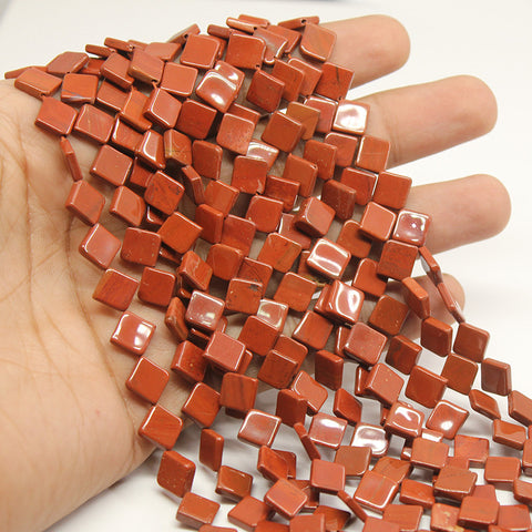 Red Jasper Kite Shape Beads Strand, 9mm, 13 inches, SKU/MOD - Jewels Exports