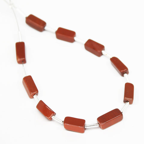 Red Jasper Smooth Rectangle Beads, SKU/N - Jewels Exports - 1