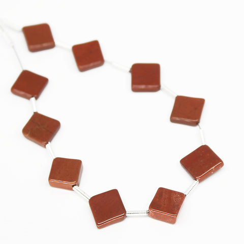 Red Jasper Smooth Cushion Beads, SKU/N - Jewels Exports - 1