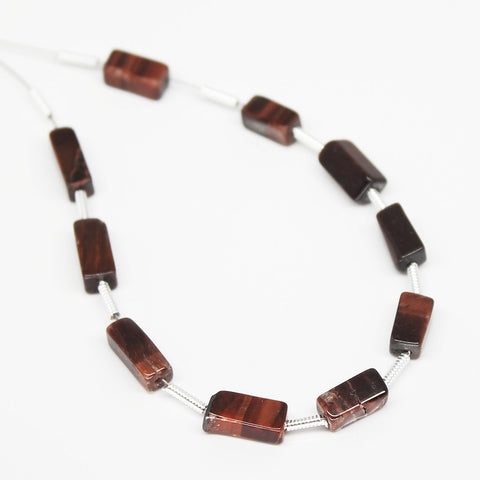 Red Tiger Eye Rectangle Beads, SKU/N - Jewels Exports - 1