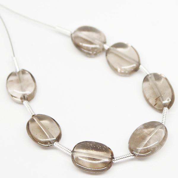 Smoky Quartz Oval Beads, SKU/N - Jewels Exports - 1