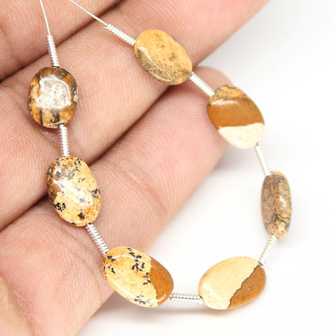 Jasper Smooth Oval Beads, SKU/N - Jewels Exports - 1