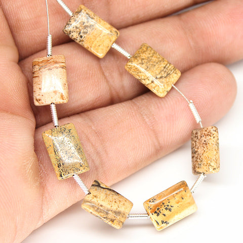 Jasper Smooth Rectangle Beads, SKU/N - Jewels Exports - 1
