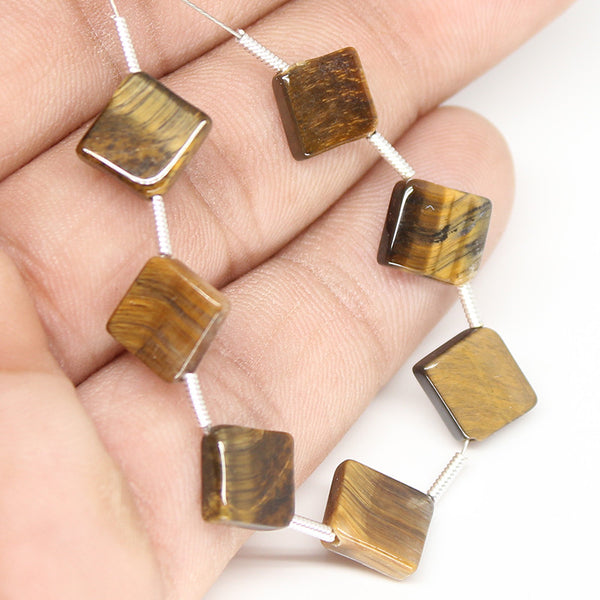Tiger Eye Smooth Cushion Beads,  SKU/N - Jewels Exports - 1
