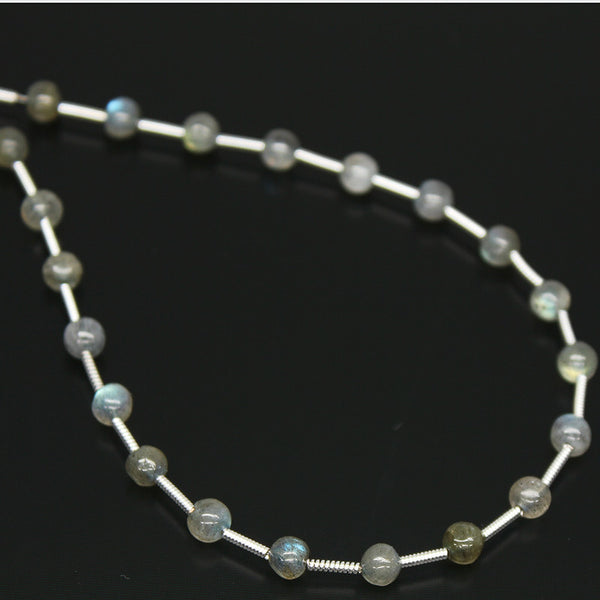 Labradorite Smooth Round Ball Beads, 21 beads, 4.5mm, SKU/P - Jewels Exports - 1