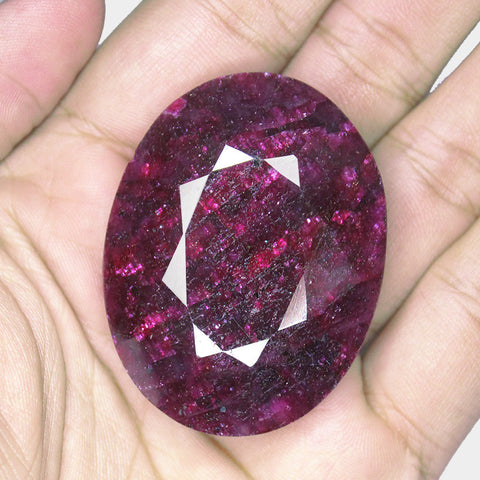 Natural Red Ruby Oval Shape Gemstone, 404.5cts, 50x39x20mm, SKU6361/S - Jewels Exports - 1