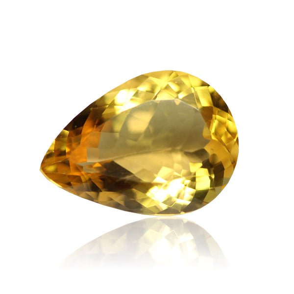 AAA Golden Citrine Pear Gemstone, 18x13mm, 1 pc, SKU2122A - Jewels Exports