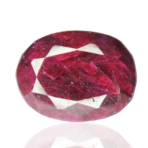 Natural Red Ruby Oval Shape Gemstone, 204.5cts, 37x28x17mm, SKU4627/S - Jewels Exports - 1