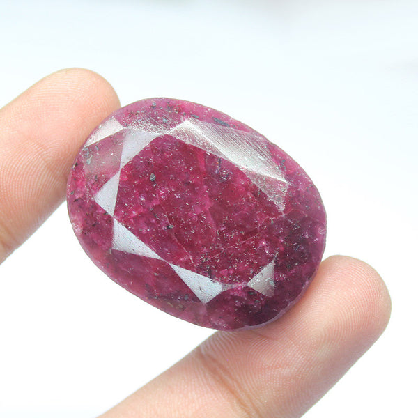 Natural Red Ruby Oval Shape Gemstone, 226.5cts, 37x28x17mm, SKU4642/S - Jewels Exports - 1