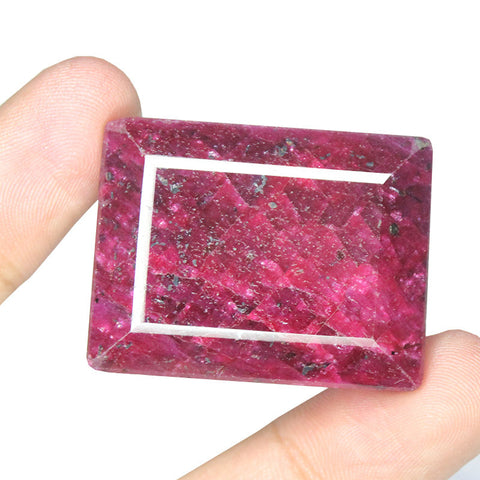 Natural Red Ruby Rectangle Shape Gemstone, 278.5cts, 37x29x20mm, SKU4637/S - Jewels Exports - 1