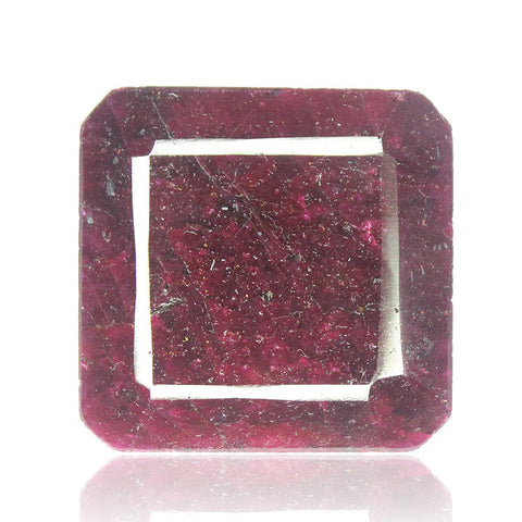 Natural Red Ruby Emerald Cut Square Gemstone, 246cts, 34x34x15mm, SKU4638/S - Jewels Exports - 1