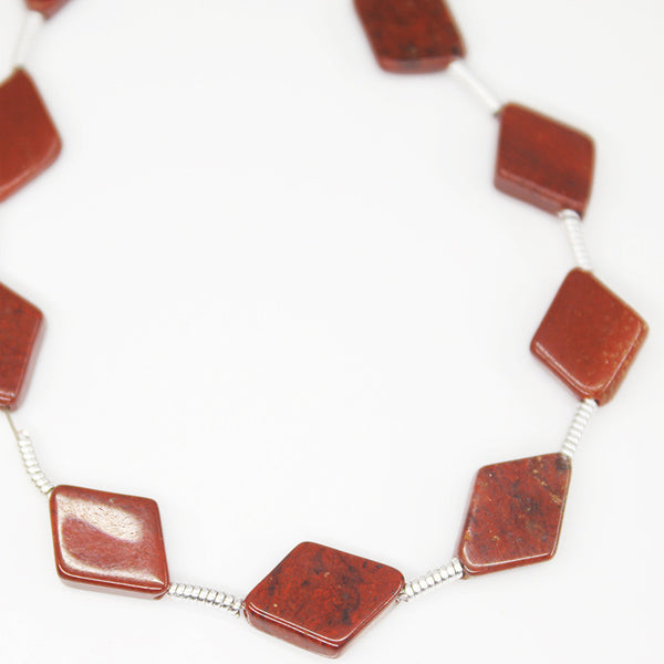 Red Jasper Flat Kite Beads, 10 Beads, 10mm, SKU/A - Jewels Exports - 1