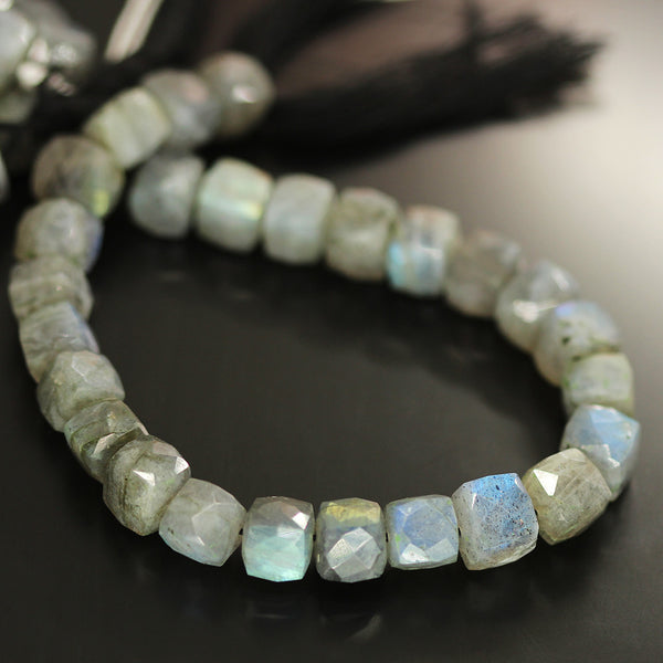Labradorite Faceted Box Beads