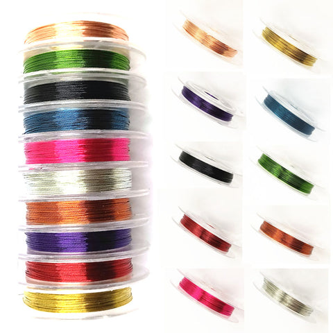 1 Roll Beading Wire 0.3mm Thick 10 Meters or 32 feet - Jewelry Making - Jewels Exports