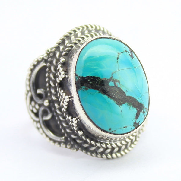 Turquoise Sterling Silver Ring 1164RG - Jewels Exports