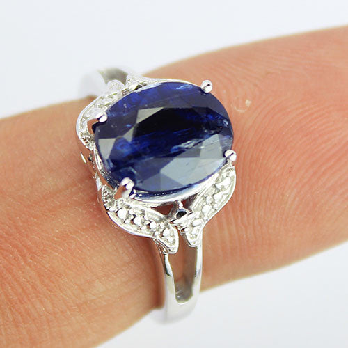 Kyanite Sterling Silver Ring 1245RG - Jewels Exports