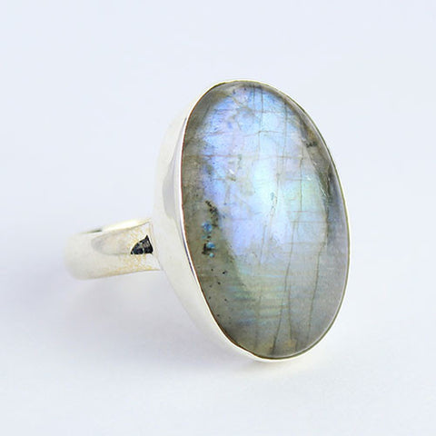 Labradorite Sterling Silver Ring 1276RG - Jewels Exports