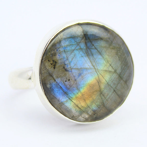 Labradorite Sterling Silver Ring 1596RG - Jewels Exports