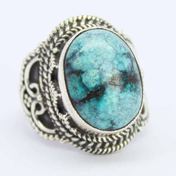 Turquoise Sterling Silver Ring 1599RG - Jewels Exports