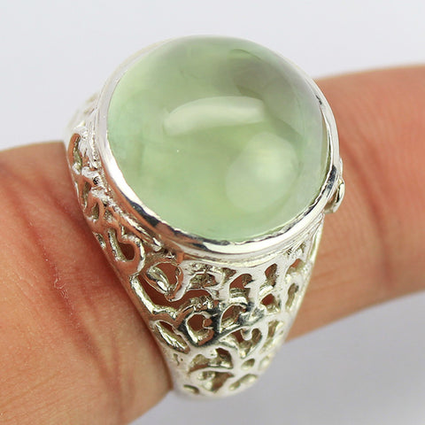 Prehnite Sterling Silver Cocktail Ring 1606RG - Jewels Exports