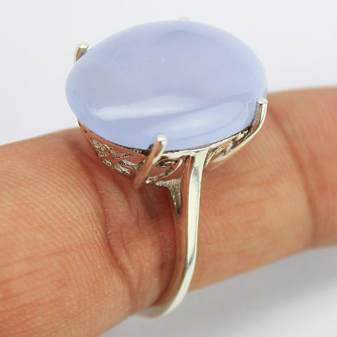 Alice Chalcedony Sterling Silver Ring 1607RG - Jewels Exports
