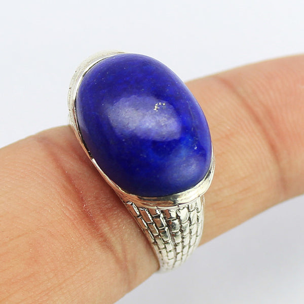 Lapis Lazuli Sterling Silver Ring 1608RG - Jewels Exports