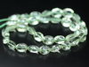 Green Amethyst Laser Cut Concave Oval Beads Strand, 9 inches, 12-13mm, SKU7556/J - Jewels Exports - 1