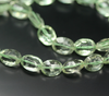 Green Amethyst Laser Cut Concave Oval Beads Strand, 9 inches, 12-13mm, SKU7556/J - Jewels Exports - 2