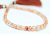 Red Sunstone Micro Faceted Rondelle Beads, 5-8mm, 7.5 inches, SKU1299AB/M - Jewels Exports - 1