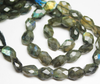 Blue Fire Labradorite Faceted Oval Nuggets Beads Strand, 9-10mm, 12 inches, SKU/F - Jewels Exports - 2